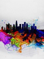 Los Angeles  Watercolor Skyline 2 Fine-Art Print