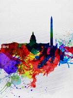 Washington DC Watercolor Skyline 1 Fine-Art Print
