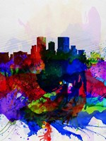 El Paseo Watercolor Skyline Fine-Art Print