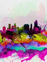 Tulsa Watercolor Skyline Fine-Art Print