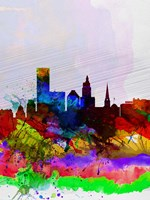 Providence Watercolor Skyline Fine-Art Print