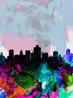 Salt Lake City Watercolor Skyline Fine-Art Print