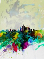 Beijing Watercolor Skyline Fine-Art Print