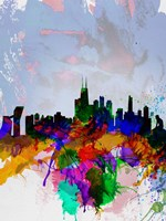Copenhagen Watercolor Skyline Fine-Art Print