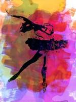 Black Ballerina Watercolor Fine-Art Print