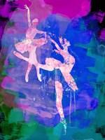 Two white Ballerinas Watercolor Fine-Art Print
