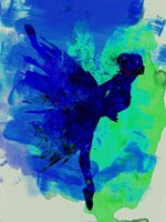 Ballerina on Stage Watercolor 2 Fine-Art Print