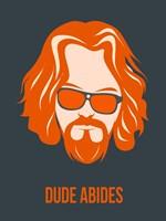 Dude Abides Orange Fine-Art Print