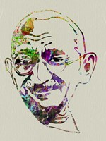 Gandhi Watercolor Fine-Art Print