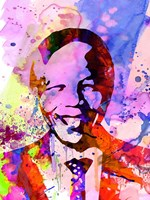 Nelson Mandela Watercolor Fine-Art Print