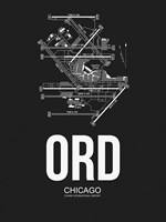 ORD Chicago Airport Black Fine-Art Print