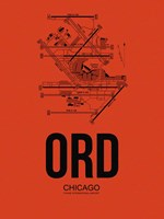 ORD Chicago Airport Orange Fine-Art Print