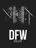DFW Dallas Airport Black Fine-Art Print