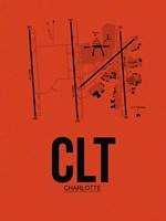 CLT Charlotte Airport Orange Fine-Art Print