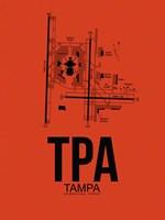 TPA Tampa Airport Orange Fine-Art Print