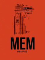 MEM Memphis Airport Orange Fine-Art Print
