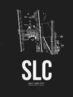 Salt Lake City Airport Black Fine-Art Print