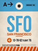 SFO San Francisco Luggage Tag 1 Fine-Art Print