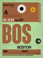 BOS Boston Luggage Tag 1 Fine-Art Print