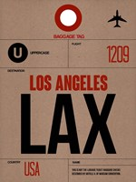 LAX Los Angeles Luggage Tag 1 Fine-Art Print