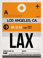 LAX Los Angeles Luggage Tag 2 Fine-Art Print