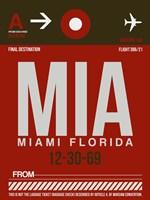 MIA Miami Luggage Tag 2 Fine-Art Print