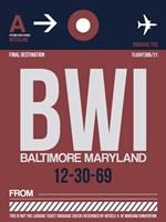 BWI Baltimore Luggage Tag 2 Fine-Art Print