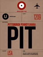 PIT Pittsburgh Luggage Tag 1 Fine-Art Print