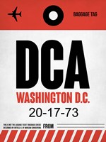 DCA Washington Luggage Tag 1 Fine-Art Print