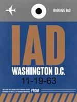 IAD Washington Luggage Tag 2 Fine-Art Print