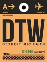 DTW Detroit  Luggage Tag 1 Fine-Art Print