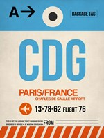CDG Paris Luggage Tag 2 Fine-Art Print