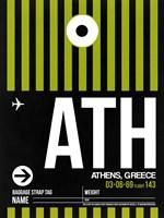 ATH Athens Luggage Tag 2 Fine-Art Print