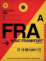 FRA Frankfurt Luggage Tag 2 Fine-Art Print