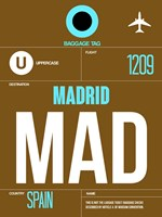 MAD Madrid Luggage Tag 1 Fine-Art Print