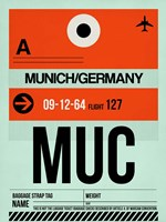 MUC Munich Luggage Tag 2 Fine-Art Print