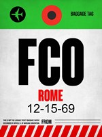 FCO Rome Luggage Tag 1 Fine-Art Print