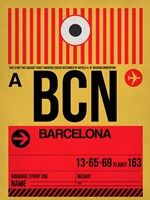 BCN Barcelona Luggage Tag 1 Fine-Art Print