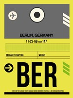 BER Berlin Luggage Tag 1 Fine-Art Print