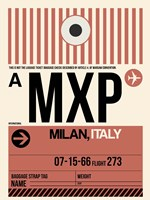 MXP Milan Luggage Tag 1 Fine-Art Print
