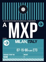 MXP Milan Luggage Tag 2 Fine-Art Print