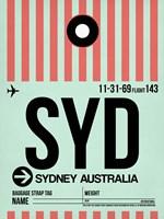 SYD Sydney Luggage Tag 1 Fine-Art Print