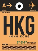 HKG Hog Kong Luggage Tag 2 Fine-Art Print