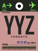 YYZ Toronto Luggage Tag 2 Fine-Art Print