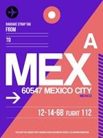 MEX Mexico City Luggage Tag 1 Fine-Art Print
