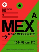 MEX Mexico City Luggage Tag 2 Fine-Art Print