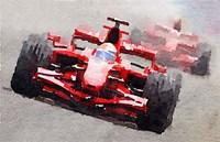 Ferrari F1 Race Fine-Art Print