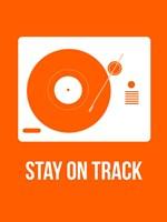 Stay On Track Orange Fine-Art Print