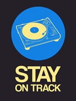 Stay On Track Record Player 2 Fine-Art Print
