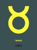 Taurus Zodiac Sign Yellow Fine-Art Print